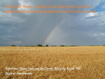 Wheat field with rainbow